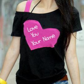 Love U Girl T-Shirt Name Write Profile Picture Download