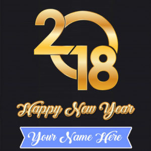 Name Write Happy New Year 2018 Greeting Card Status Picture