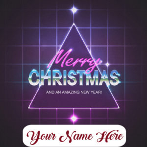 Write Name Merry Christmas With Amazing New Year Wishes Image