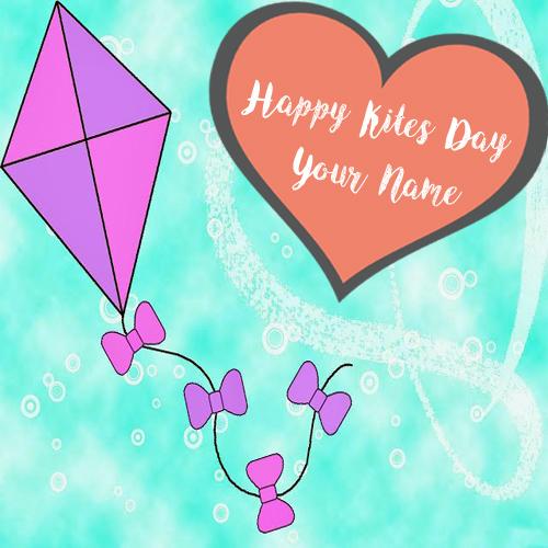 Beautiful Kites Makar Sankranti Wishes Name Edit Photos