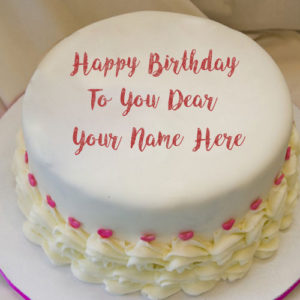Custom Name Text Write Birthday Cake Whatsapp Status Pictures