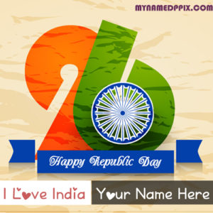 Facebook Profile Love India Happy Republic Day Name Image