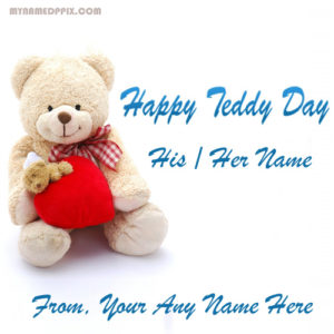 Girlfriend Name Happy Teddy Day Image Sent Online Create