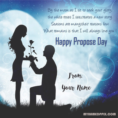 Happy propose day greeting card name write wishes pictures editor m4hsunfo