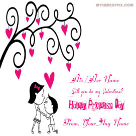 Happy Propose Day Name Image Online Edit Photo Create