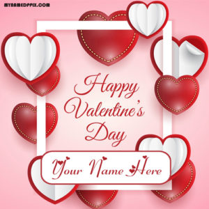 Happy Valentine Day Beautiful Card Girlfriend Name Wishes Image Sent