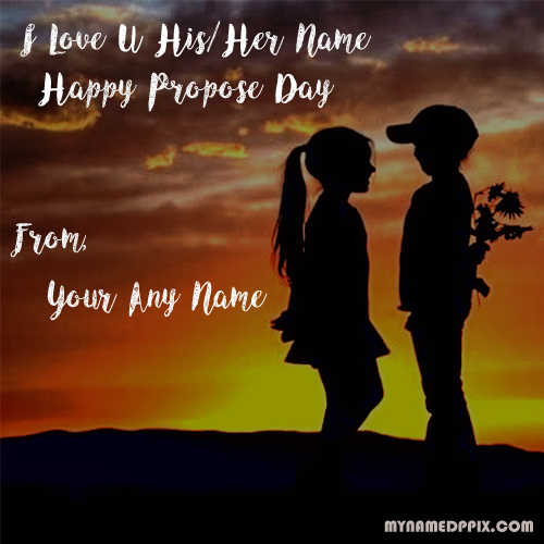 Love U Happy Propose Day Name Edit Image Sent Whatsapp