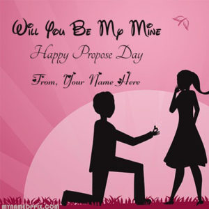 Print Name Happy Propose Day Pictures Girlfriend Name Write
