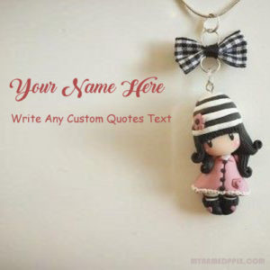 Write Name Cute Doll Keychain Whatsapp Status Profile Photo Edit