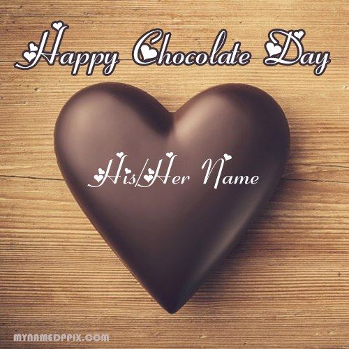Write Name Happy Chocolate Day Wishes Beautiful Love Images
