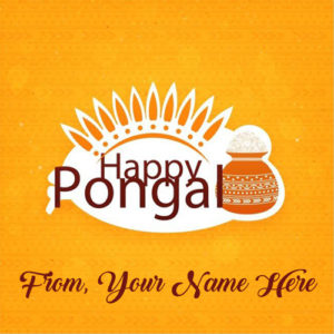 Write Name Happy Pongal Wishes Card Sent Online Edit
