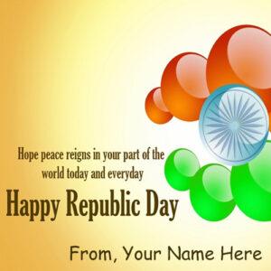 Write Name India Happy Republic Day Quotes Whatsapp Status