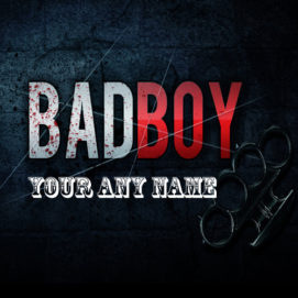 Bad Boy Cool Name Write Profile Pictures Editable Online