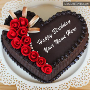 Chocolate Yummy Happy Birthday Cake Name Edit Photos