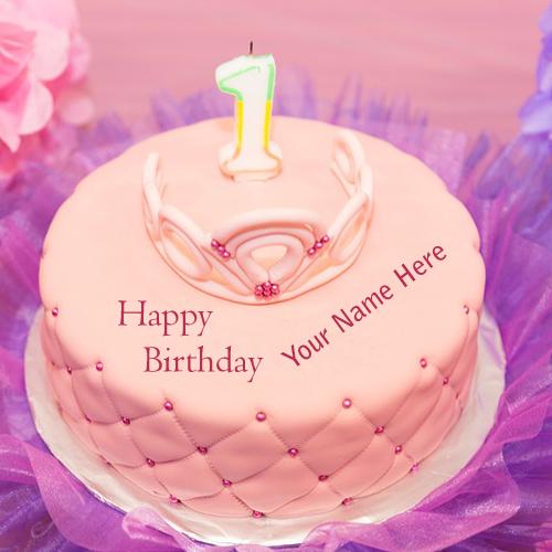 First Birthday Wishes Name Write Cakes Photos Sent Whatsapp