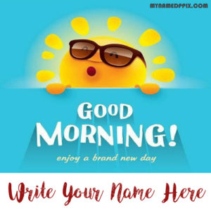 Good Morning Status Sent Name Wishes Online Photo Edit
