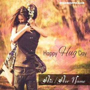Romantic Happy Hug Day Love Name Photo Create Online Sent