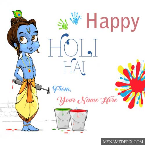 Write Name Happy Holi God Krishna Wishes HD Wallpapers Edit