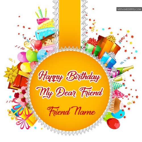 Amazing Birthday Wish Card Friend Name Write Images