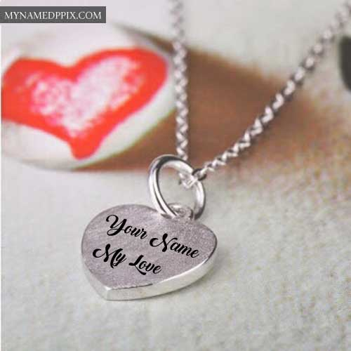 Amazing Heart Pendant Necklace With Name Write Pictures Profile