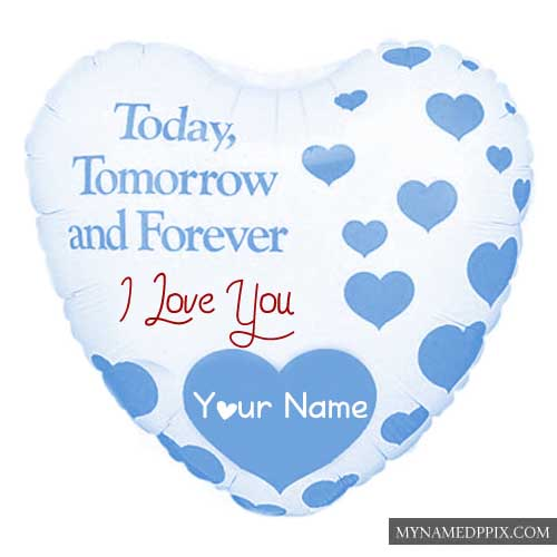 Best Love You Heart Greeting Card Name Write Profile Photo