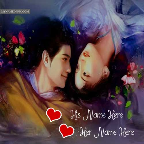 Couple Picture Online Name Write Romantic Lover Photo