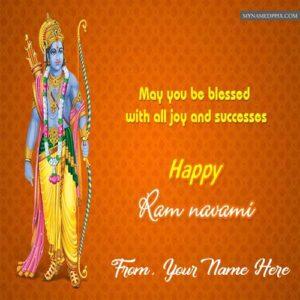 Happy Ram Navami Greeting Quotes Card Name Write Sent Photo