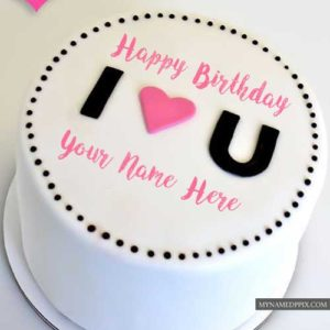 Wonderful Happy Birthday Cake With Name Image Send Free
