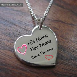 Write Couple Name Heart Pendant Profile Image Edit Online Free