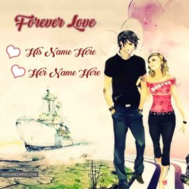 Write Couple Name Romantic Cool Lover Profile Photo Create