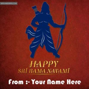 Write Name Happy Ram Navami 2018 Wish Card Pictures