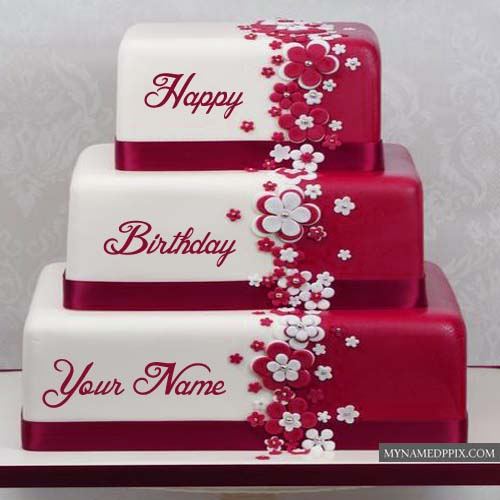 Name editor selol ink beautiful layered birthday cake with name editor photo online name editor happy birthday cake publicscrutiny Images