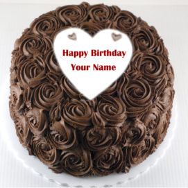 Chocolate Happy Birthday Cake Wishes Name Write Picture