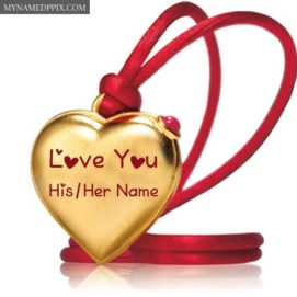 Create Name Heart Gold Pendant Love U Pictures Profile Free
