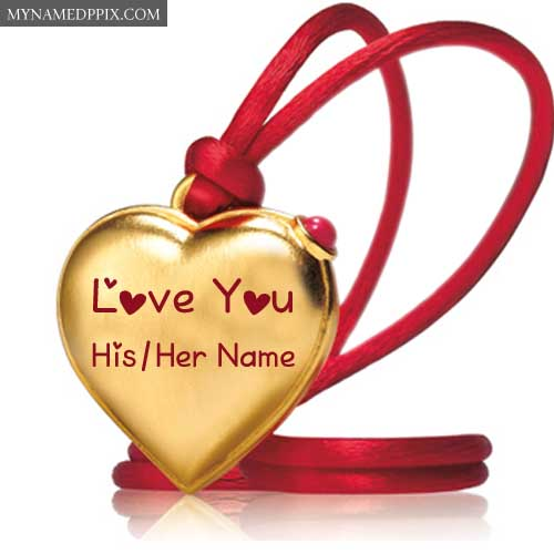 Create Name Heart Gold Pendant Love U Pictures Profile Free
