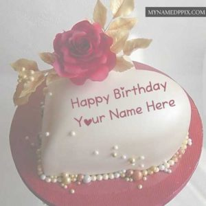 New Beautiful Heart Design Birthday Cake Sister Name Wishes Images