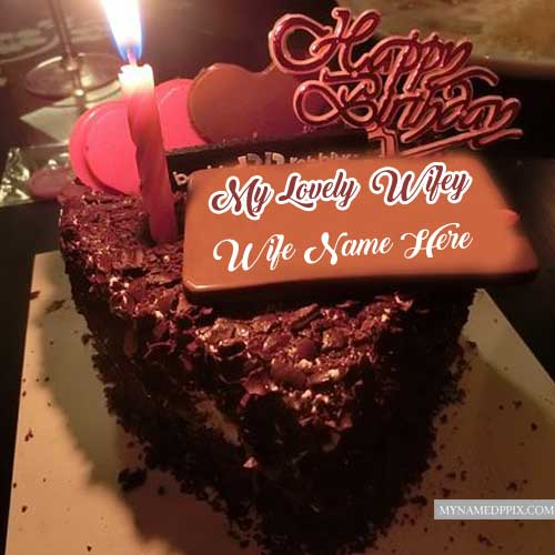 Wife Name Write Happy Birthday Love Wifey Cake Pictures Create