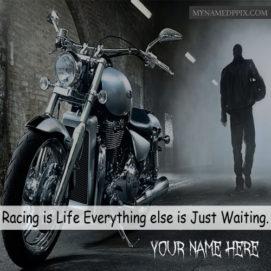 Write Name Bike Rider Cool Quotes Profile Status Image Download