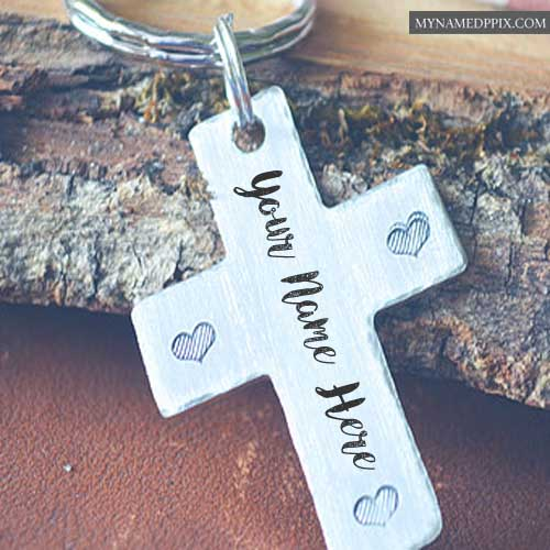 Write Name Cross Keychain Profile Pictures Online Editing