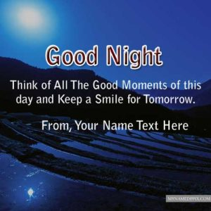 Write Name Good Night Wishes Quotes Good Moments Pictures