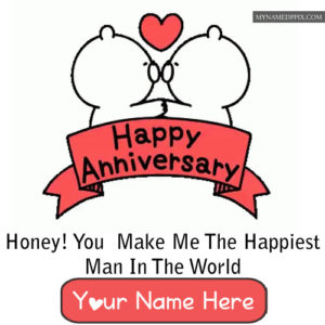 Write Name Happy Anniversary Wishes Status Pictures Create Free