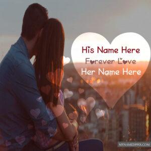 Write Names Beautiful Romantic Couple Profile Images Create Online Free