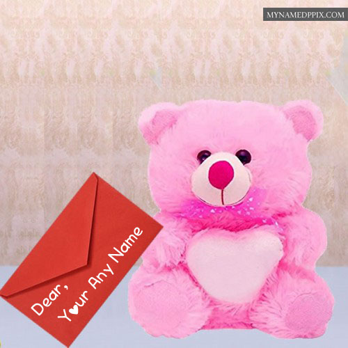 Writing Name Sweet Lovely Teddy Bear Send Whatsapp Images