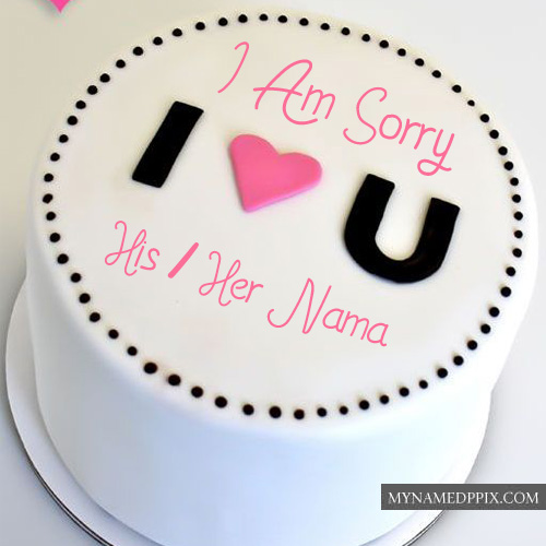 Sorry Love Beautiful Cake Pictures Sent Online Write Name