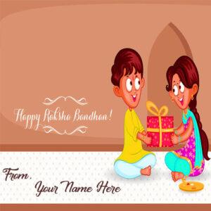 Beautiful Raksha Bandhan Wishes Photo Name Write Send Online