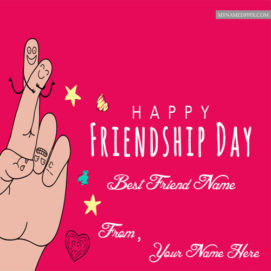 Happy Friendship Day Special Name Wish Card Sent Status Photo