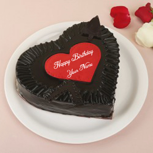 Birthday Cake Sweet Chocolate Name Wishes Send Images Online