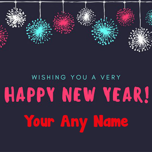 Awesome Unique New Year Wishing U Special Name Pictures
