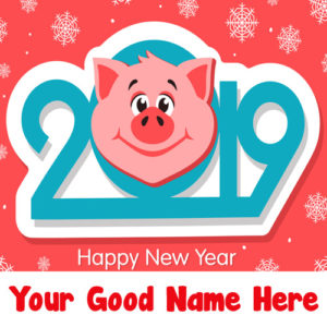 Beautiful New Year 2019 Wishes Name Editor Online Image Free