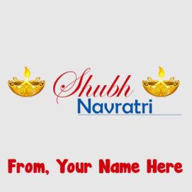 Create Name Greeting Card Navratri Wishes Status Images